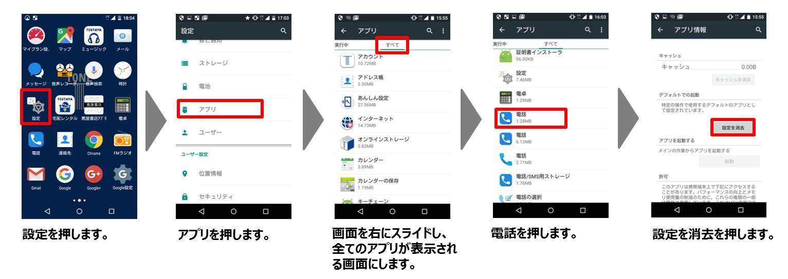 デフォルト起動アプリの設定方法